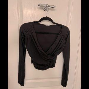 ❤️ GARAGE low cut cropped long sleeve
